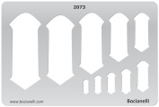 Plastic Stencil Template for Graphical Design Drawing Drafting Metal Clay Jewellery Jewellery Making - Gothic Keyholes