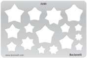 Plastic Stencil Template for Graphical Design Drawing Drafting Metal Clay Jewellery Jewellery Making - Star Stars