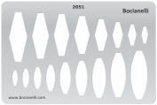 Plastic Stencil Template for Graphical Design Drawing Drafting Metal Clay Jewellery Jewellery Making - Diamond Dimonds