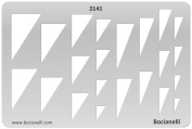 Plastic Stencil Template for Graphical Design Drawing Drafting Metal Clay Jewellery Jewellery Making - Cones Cone Triangle Triangles