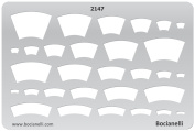 Plastic Stencil Template for Graphical Design Drawing Drafting Metal Clay Jewellery Jewellery Making - Pendants Arches