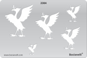 Plastic Stencil Template for Graphical Design Drawing Drafting Metal Clay Jewellery Jewellery Making -