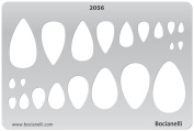 Plastic Stencil Template for Graphical Design Drawing Drafting Metal Clay Jewellery Jewellery Making - Tear Drops Tears