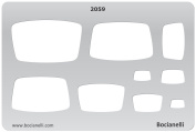 Plastic Stencil Template for Graphical Design Drawing Drafting Metal Clay Jewellery Jewellery Making - Tapered Rectangles