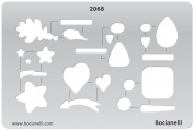 Plastic Stencil Template for Graphical Design Drawing Drafting Metal Clay Jewellery Jewellery Making - Toggles Heart Leaf Arrow