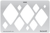 Plastic Stencil Template for Graphical Design Drawing Drafting Metal Clay Jewellery Jewellery Making - Diamonds Diamond