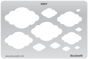 Plastic Stencil Template for Graphical Design Drawing Drafting Metal Clay Jewellery Jewellery Making - Clouds Sky Cloud