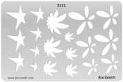 Plastic Stencil Template for Graphical Design Drawing Drafting Metal Clay Jewellery Jewellery Making - Stars Star Flower Flowers