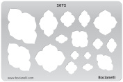 Plastic Stencil Template for Graphical Design Drawing Drafting Metal Clay Jewellery Jewellery Making - Mehadi Frames Sky Cloud