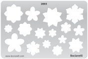 Plastic Stencil Template for Graphical Design Drawing Drafting Metal Clay Jewellery Jewellery Making - Starry Flower Flowers Shape