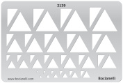 Plastic Stencil Template for Graphical Design Drawing Drafting Metal Clay Jewellery Jewellery Making - Triangles Triangle