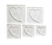 ArtWay Stylized Heart Shape Frame Set