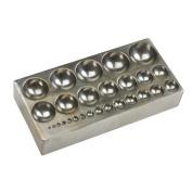 Steel Dapping Block, 27 Spheres