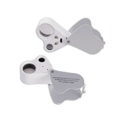 30X & 60X Double Multipl e Jeweller Loupe White LED Magnifier