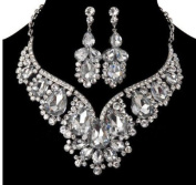 Shining Wedding Bridal Jewellery Sets Gift Set Tear Drop Necklace Set Jewelery Sets Crystal