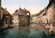 Breathtaking Eastern Europe Imagery Exclusive Collection. Poster Art- 0164 Old Palace And Canal Annecy France