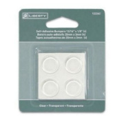 SET OF 16 (4 PACKS OF 4)- LIBERTY SELF ADHESIVE BUMPERS 2.1cm X 0.3cm NEW IN PACKS