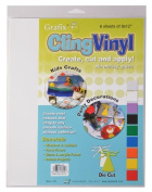 Grafix 23cm -by-30cm Cling Film Clear, 6-Pack