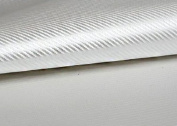 "Peel & Stick 3D Carbon Fibre Fabric - Not vinyl [Silver : 50cm(19.68"") X 70cm(27.55"")] Super Flexible Self-adhesive Fabric - Made in Korea - Ship by Pantos Express."