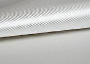 "Peel & Stick 3D Carbon Fibre Fabric - Not vinyl [Silver : 50cm(19.68"") X 70cm(27.55"")] Super Flexible Self-adhesive Fabric - Made in Korea - Ship by Pantos Express."