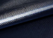 "Peel & Stick 3D Carbon Fibre Fabric - Not vinyl [Blue Black : 50cm(19.68"") X 70cm(27.55"")] Super Flexible Self-adhesive Fabric - Made in Korea - Ship by Pantos Express."