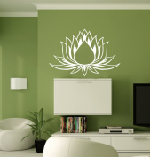Hausewares Vinyl Decal Lotus Flower Yoga Meditation Wall Art Decor Removable Stylish Sticker Mural Unique Design for Room