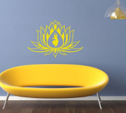 Hausewares Vinyl Decal Lotus Flower With Girl Indian Dance Yoga Meditation Wall Art Decor Removable Stylish Sticker Mural Unique Design for Room