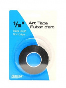 HeadLine Graphic Art Tape black 0.2cm . [PACK OF 6 ]