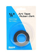 HeadLine Graphic Art Tape black 0.3cm . [PACK OF 6 ]