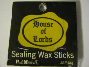 Two 9.5cm Vintage House of Lords Paul Marshall Sealing Wax Sticks (With Wick); 1 Orange & 1 Dark Pink; Made in Japan