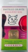 J Herbin Brass Seal Cat