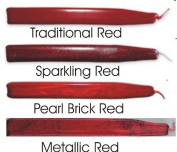 Red Sealing Wax Assortment (Traditional, Metallic, Sparkling, and Brick Red) Waterstons Scottish Sealing Wax with wick - 4 Sticks