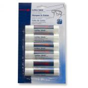 Officemate Glue Letter Stick, White, 10ml, 6 Pack