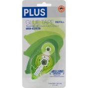 Plus Permanent Vellum Glue Tape Refill-.80cm X52.5'