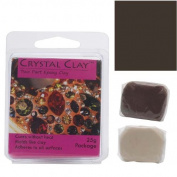 Crystal Clay 2-Part Epoxy Clay Kit 'Dark Brown' 25 Grammes