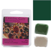 Crystal Clay 2-Part Epoxy Clay Kit 'Dark Green' 25 Grammes