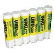 UHU UHU Stic Permanent Clear Application Glue Stick, .2190ml, 6/Pack