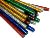 Colour Glitter Hot Melt Glue Sticks - Pack of 50