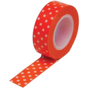 Trendy Tape 15mm X 10yds-Polka Dot Orange