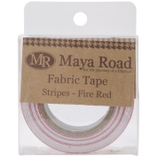 Maya Road FT2363 Fabric Tape, Stripes, Fire Red