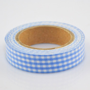 Lychee Craft Blue Grid Fabric Washi Tape Decorative DIY Tape