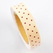 Lychee Craft Apricot Dot Fabric Washi Tape Decorative DIY Tape