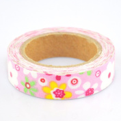 Lychee Craft Carton Floral Fabric Washi Tape Decorative DIY Tape
