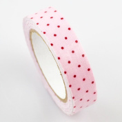 Lychee Craft Light Pink Dots Fabric Washi Tape Decorative DIY Tape