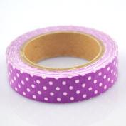 Lychee Craft Purple Dot Fabric Washi Tape Decorative DIY Tape