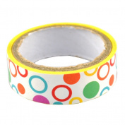 Lychee Craft Circle White Decorative Craft Paper PVC Tape DIY Making Sticker