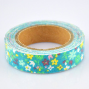 Lychee Craft Colourful Flowers Fabric Washi Tape Decorative DIY Tape