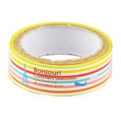 Lychee Craft Colourful Stripe Tower Decorative Craft Paper PVC Tape DIY Making Sticker