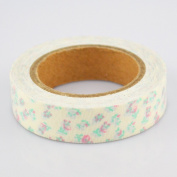Lychee Craft Light Flowers Floral Fabric Washi Tape Decorative DIY Tape