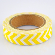 Lychee Craft Yellow Chevron Fabric Washi Tape Decorative DIY Tape